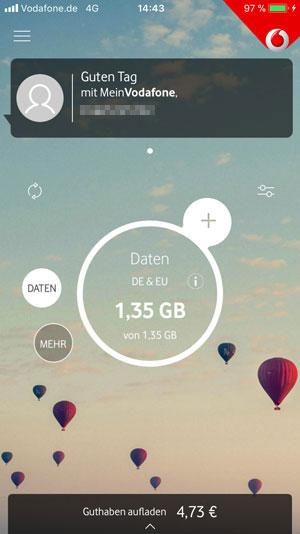 Mein Vodafone App Willkommen