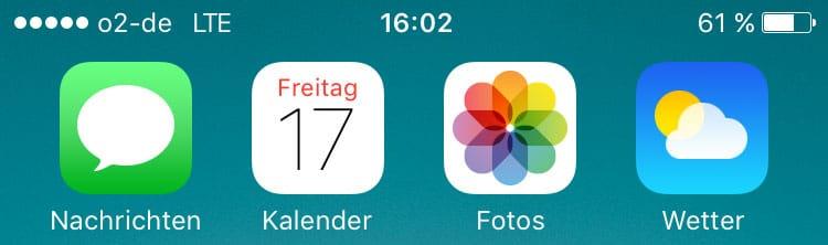 LTE Anzeige auf iPhone